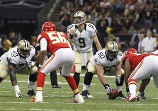Drew Brees, Brian De La Puente, Derrick Johnson, Jahri Evans
