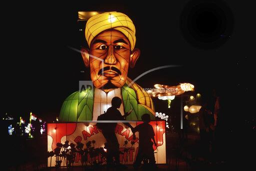Festival of Light in Jakarta, Indonesia - 15 Aug 2019