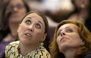 Reps.Eleanor Espling, R-New Gloucester, left, and Amy Volk