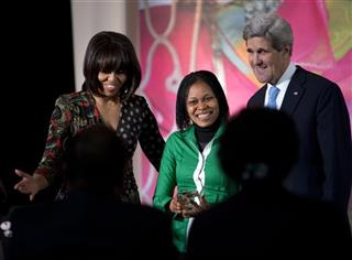 John Kerry, Michelle Obama, Josephine Obiajulu Odumakin