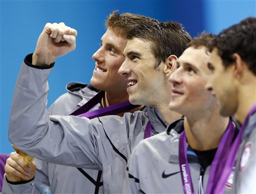 Michael Phelps, Conor Dwyer, Ricky Berens, Ryan Lochte
