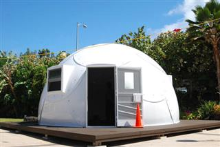 APTOPIX Hawaii Homeless Igloos