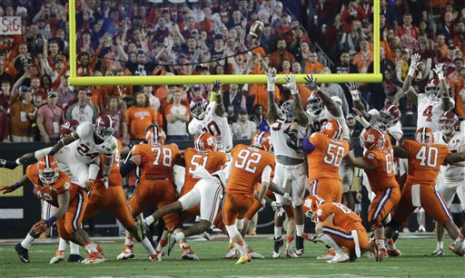 Playoff Championship Clemson Alabama Football
