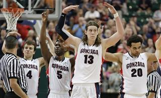 Kevin Pangos, Gary Bell Jr. Kelly Olynyk, Elias Harris