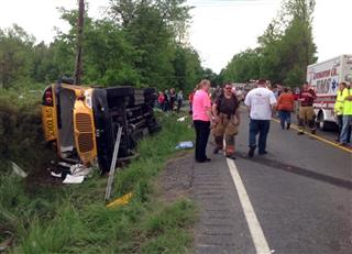Bus Overturns