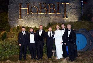 Andy Serkis, Peter Jackson, James Nesbitt, Martin Freeman, Cate Blanchett, Richard Armitage and Ian McKellan