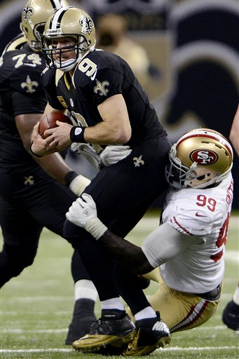 Drew Breees, Aldon Smith