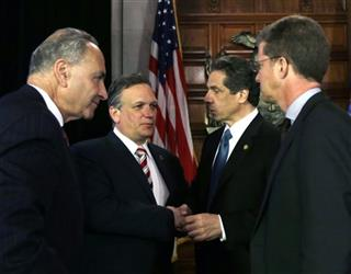 Edward Mangano, Charles Schumer, Andrew Cuomo, Shaun Donovan