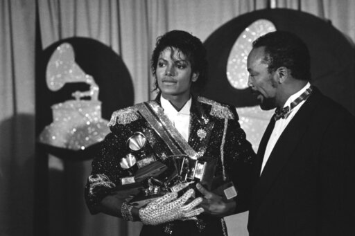 Michael Jackson and Quincy Jones 1984