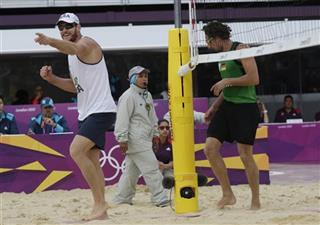 London Olympics Beach Volleyball Referee in Headscraf