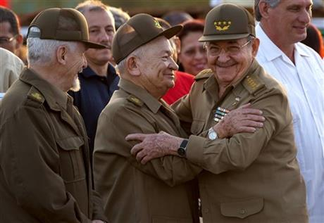 Raul Castro, Ramiro Valdez, Guillermo Garcia Frias