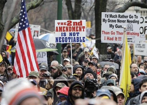 Outtakes AP A XGR NY USA OTK US Gun Control NY Rally