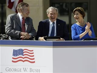 George W. Bush, Laura Bush, George H.W. Bush