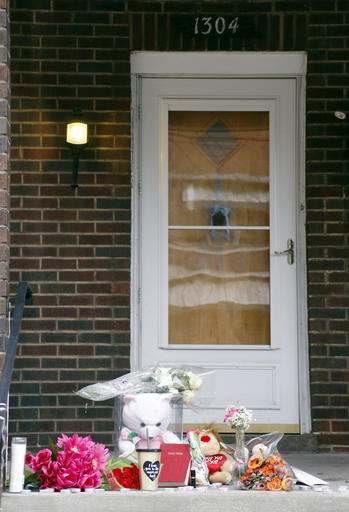 A Makeshift Memorial Is Displayed On The Front Porch Of House Friday March 11 2016 In Wilkinsburg Pa Shooting At Backyard Party