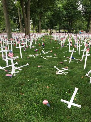 Memorial Display Vandalized