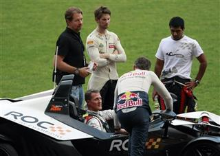 Michael Schumacher, David Coulthard, Romain Grosjean