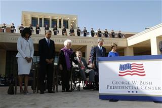 Barack Obama, George W. Bush, Laura Bush, George H.W. Bush, Barbara Bush, Michelle Obama