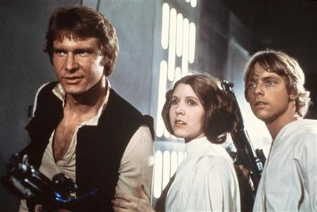 Harrison Ford, Carrie Fisher e Mark Hamill