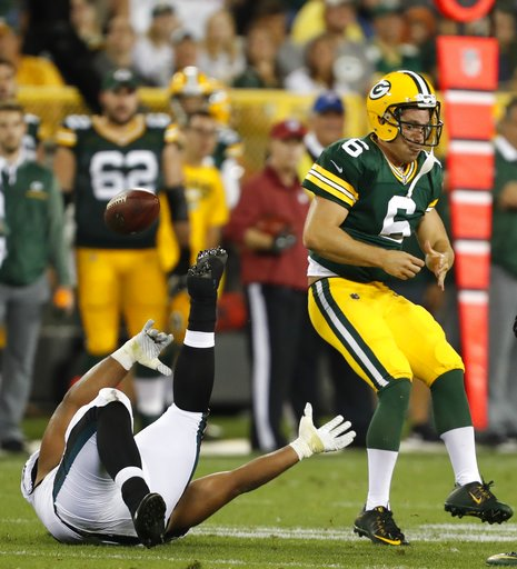 Eagles Packers Football