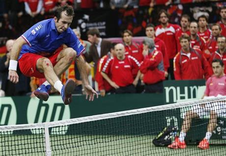 APTOPIX Czech Republic Spain Tennis Davis Cup
