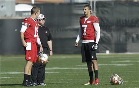 Alex Smith, Colin Kaepernick, Greg Roman