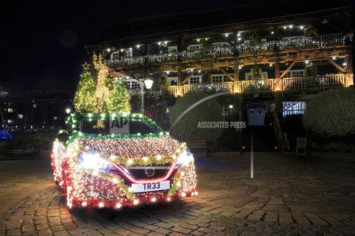Nissan LEAF Regenerative Energy Christmas Tree