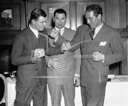 Watchf AP S  NY USA APHS249813 Max Baer and James J. Braddock Jack Dempsey