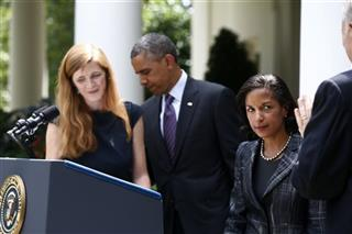 Barack Obama, Susan Rice, Tom Donilon, Samantha Power