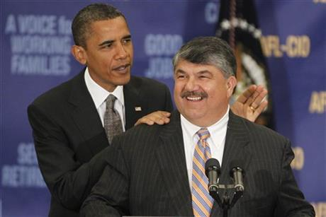 Barack Obama, Richard Trumka