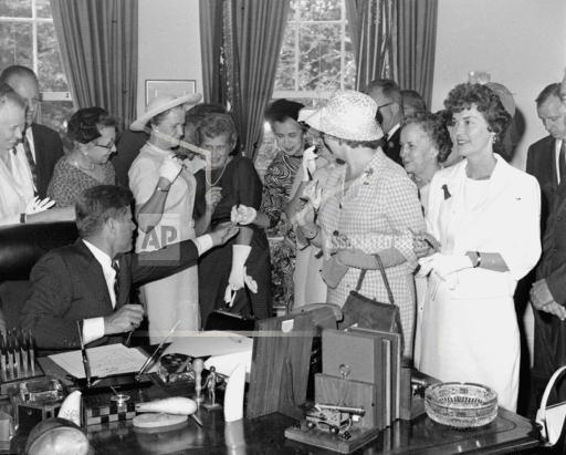 Associated Press Domestic News Dist. of Columbia United States KENNEDY SIGNS LEGISLATION