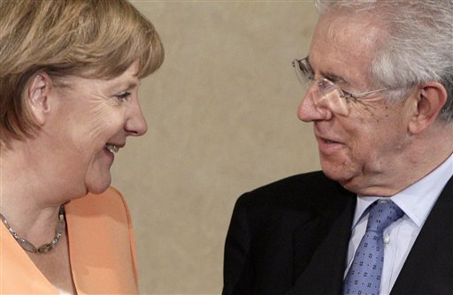 Angela Merkel, Mario Monti