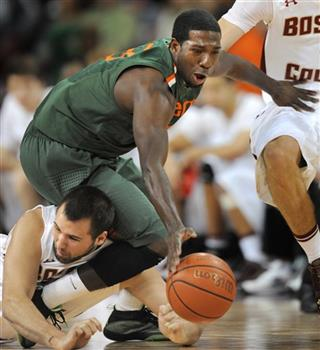 APTOPIX Miami Boston College Basketball