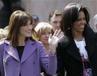 Michelle Obama, Carla Bruni Sarkozy