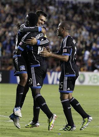 Simon Dawkins, Chris Wondolowski, Justin Morrow