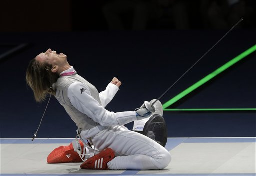 APTOPIX London Olympics Fencing Women