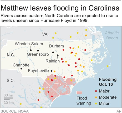 Over Still Need Rescue In North Carolina After Floods - Nc flood maps