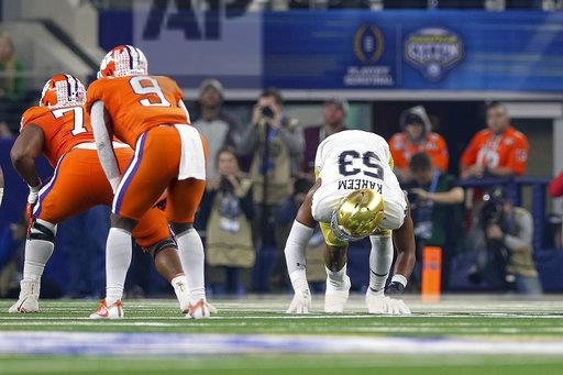 COLLEGE FOOTBALL: DEC 29 CFP Semifinal at the Cotton Bowl Classic - Clemson v Notre Dame