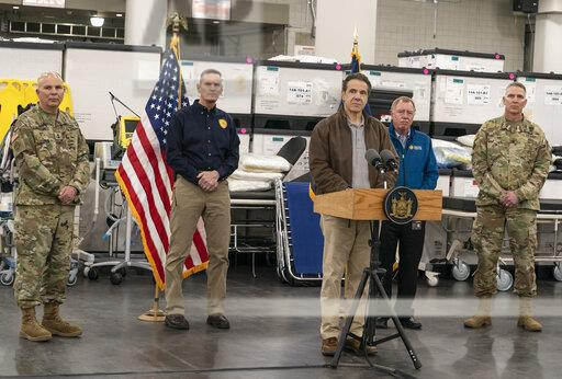 Governor Andrew Cuomo press conference at the Javits Center-NYC