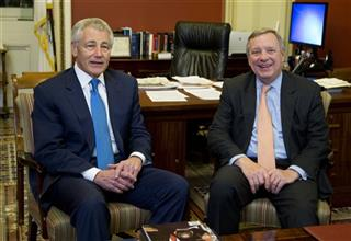 Dick Durbin, Chuck Hagel