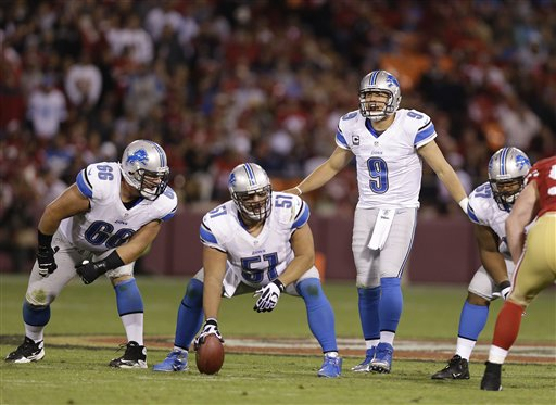 Stephen Peterman,  Doug Hogue,  Matthew Stafford