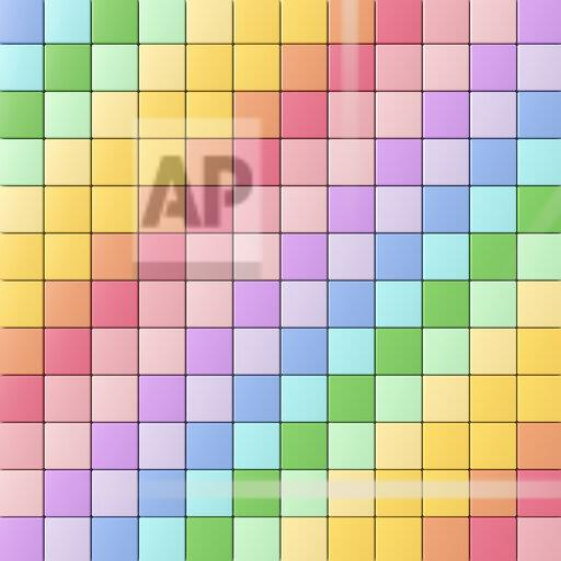 3D rendering, Diagonally arranged, rainbow colored tiles