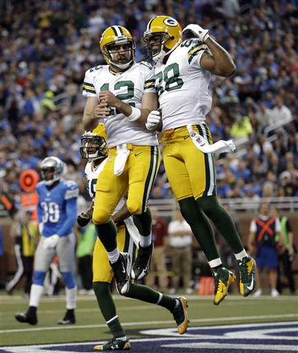 Aaron Rodgers, Jermichael Finley