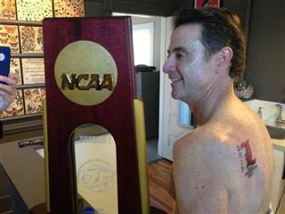 Louisville Pitino Tattoo Basketball