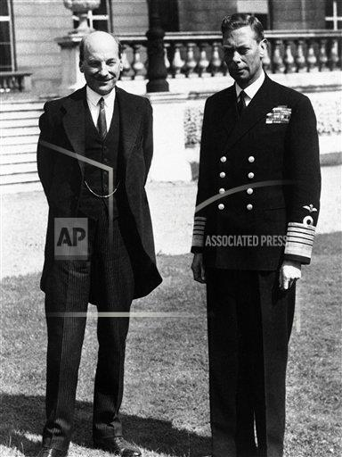 Watchf AP I   XEN APHSL32988 London King George VI and Clement Attlee