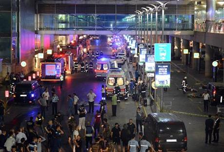 The Latest: Turkish president condemns airport attack