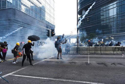 Protest against extradition bill in Hong Kong, China - 24 Aug 2019