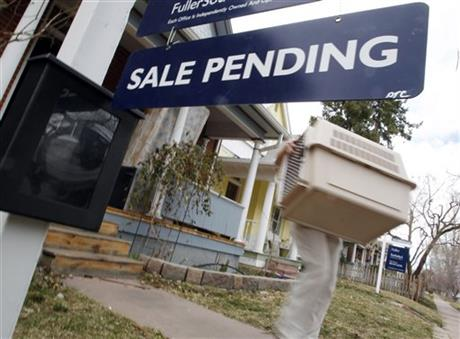 Pending home sales sign