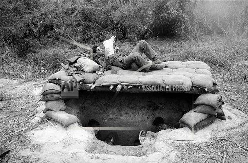 Watchf AP I   VNM APHS371862 Vietnam War: US Foxholes and Shelters 1966