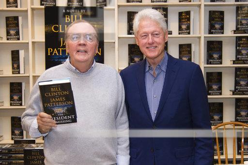 President Bill Clinton and James Patterson Book Signing