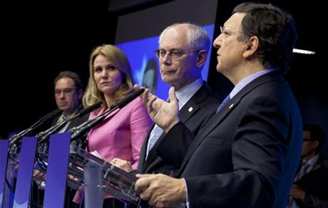 Jose Manuel Barroso, Herman Van Rompuy, Helle Thorning-Schmidt